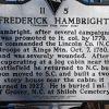 FREDERICK HAMBRIGHT REVOLUTIONARY SOLDIER MEMORIAL MARKER BACK