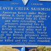 BEAVER CREEK SKIRMISH REVOLUTIONARY WAR MEMORIAL MARKER