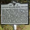 CAPTAIN WILLIAM HENRY MOUZON REVOLUTIONARY MEMORIAL MARKER BACK