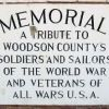 WOODSON COUNTY WORLD WAR AND VETERANS MEMORIAL PLAQUE