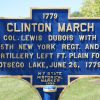 CLINTON MARCH WAR MEMORIAL MARKER