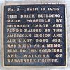 WABAUNSEE COUNTY SOLDIERS AND SAILORS MEMORIAL BUILDING PLAQUE