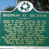 SHERMAN AT DECATUR WAR MEMORIAL MARKER