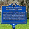 BRITISH POSITION REVOLUTIONARY WAR MEMORIAL MARKER