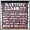 BATTERY CLAGETT WAR MEMORIAL MARKER
