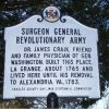SURGEON GENERAL REVOLUTIONARY ARMY MEMORIAL MARKER