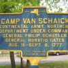 CAMP VAN SCHAICK REVOLUTIONARY WAR MEMORIAL MARKER