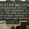 CHESTER MILITIA REVOLUTIONARY WAR MEMORIAL MARKER