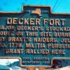 DECKER FORT REVOLUTIONARY WAR MEMORIAL MARKER