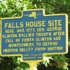 FALLS HOUSE SITE REVOLUTIONARY WAR MEMORIAL MARKER