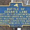 BATTLE OF EDEGAR'S LANE REVOLUTIONARY WAR MEMORIAL MARKER