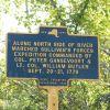 ALONG NORTH SIDE OF RIVER REVOLUTIONARY WAR MEMORIAL MARKER