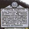FORMAN MASSACRE REVOLUTIONARY WAR MEMORIAL MARKER
