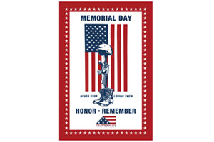 Memorial Day Window Flag Poster